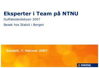 Eksperter i Team på NTNU