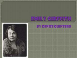 Emily  girffith
