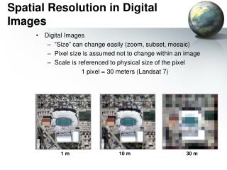 Spatial Resolution in Digital Images