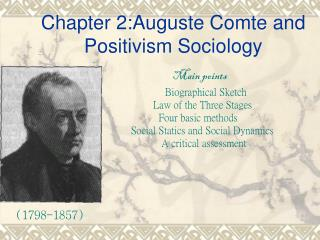 Chapter 2:Auguste Comte and Positivism Sociology
