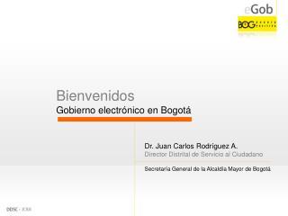 Bienvenidos Gobierno electrónico en Bogotá