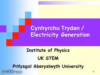 Cynhyrchu Trydan  / Electricity Generation