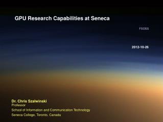 GPU Research Capabilities at Seneca