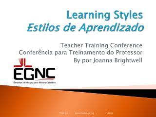 Learning  Styles Estilos  de  Aprendizado