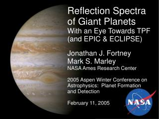 Reflection Spectra of Giant Planets With an Eye Towards TPF (and EPIC & ECLIPSE)