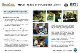 MyCS :    Middle-years Computer Science