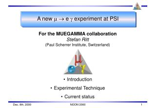 A new  m  e  g  experiment at PSI