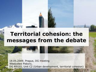 Territorial cohesion: the messages from the debate