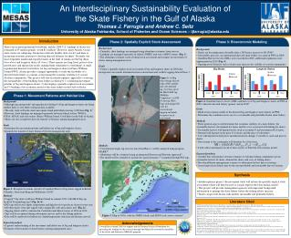 An Interdisciplinary Sustainability Evaluation of  the Skate Fishery in the Gulf of Alaska