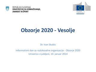 Obzorje 2020 - Vesolje