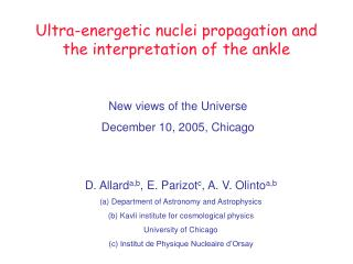 Ultra-energetic nuclei propagation and the interpretation of the ankle