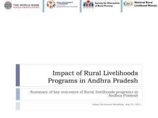 Impact of Rural Livelihoods Programs in Andhra Pradesh