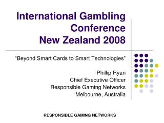 International Gambling Conference New Zealand 2008