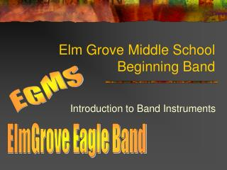 Elm Grove Middle School Beginning Band