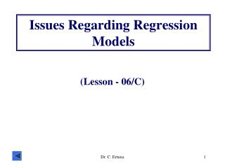 Issues Regarding Regression Models