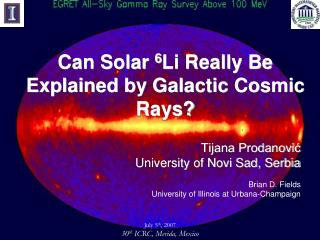 Can Solar  6 Li Really Be Explained by Galactic Cosmic Rays?