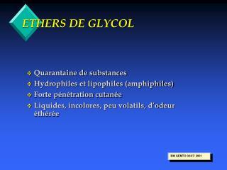 ETHERS DE GLYCOL