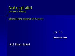Lez. 8 b Bonifacio VIII