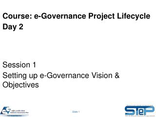 Course: e-Governance Project Lifecycle Day 2