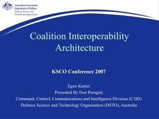 Coalition Interoperability Architecture