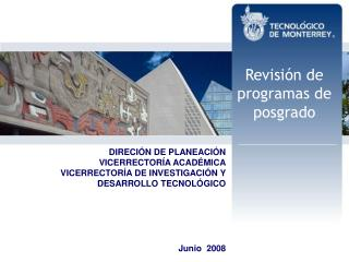 Revisión de programas de posgrado