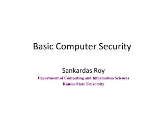 Basic Computer Security