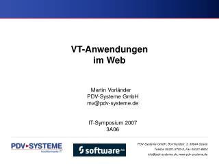 VT-Anwendungen im Web