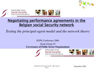 Negotiating performance agreements in the Belgian social Security network
