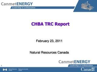 CHBA TRC Report