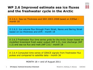 WP 2.6 Improved estimate sea ice fluxes  and the freshwater cycle in the Arctic