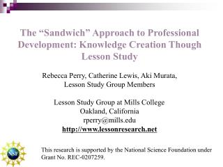 "The ""Sandwich"" Approach to Professional Development: Knowledge Creation Though Lesson Study"