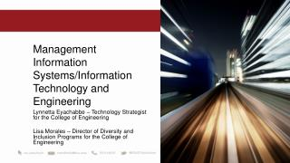Management Information Systems/Information Technology and Engineering