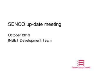 SENCO up-date meeting