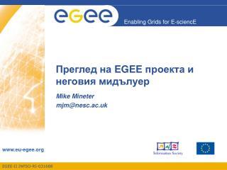 Преглед на  EGEE  проекта и неговия мидълуер