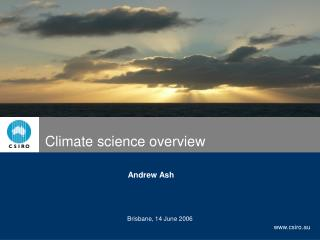 Climate science overview