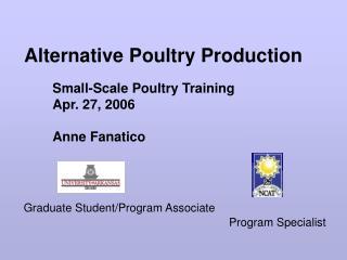 Alternative Poultry Production