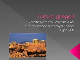 Cultura griega!!