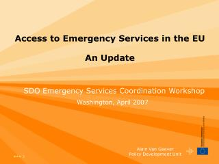 Access to Emergency Services in the EU An Update