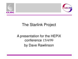 The Starlink Project