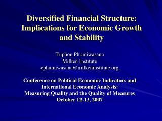 Triphon Phumiwasana Milken Institute ephumiwasanamilkeninstitute  Conference on Political Economic Indicators and  Inter
