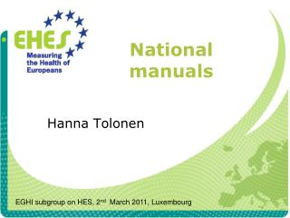 National manuals