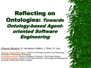Reflecting on Ontologies: Towards Ontology-based Agent-oriented Software Engineering