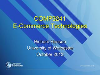 COMP3241 E-Commerce Technologies