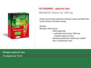 FAT-BURNING  – spalovač tuku ORGANIC KÝ Zelený čaj  1200 mg