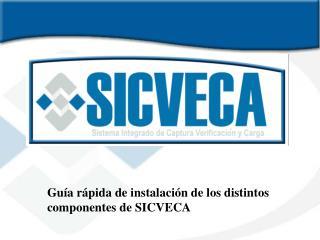 Guía rápida de instalación de los distintos  componentes de SICVECA