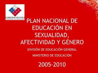 PLAN NACIONAL DE EDUCACIÓN EN SEXUALIDAD, AFECTIVIDAD Y GÉNERO DIVISIÓN DE EDUCACIÓN GENERAL