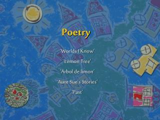 3rd gr. unit 4 poetry powerpoint 1