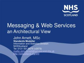 Messaging & Web Services  an Architectural View
