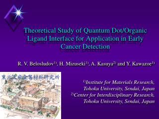 1) Institute for Materials Research,  Tohoku University, Sendai, Japan
