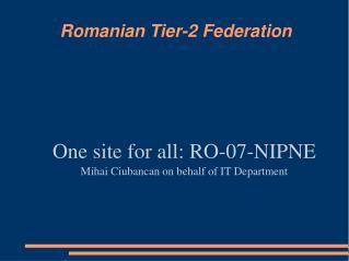 Romanian Tier-2 Federation